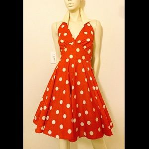Vtg 1980's Rockabilly Marilyn Monroe Swing Dress